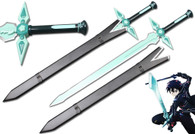 Sword Art Online - Dark Repulser w/ Wood Scabbard- Kirito's Sword