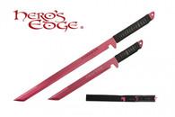HERO'S EDGE DUAL SWORDS ANODIZED RED