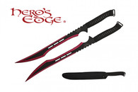HERO'S EDGE DOUBLE SWORDS ANODIZED RED