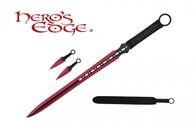 HERO'S EDGE DOUBLE EDGE SWORD ANODIZED RED