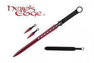 HERO'S EDGE DOUBLE EDGE SWORD ANODIZED RED
