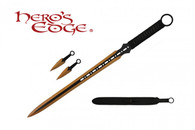 HERO'S EDGE DOUBLE EDGE SWORD ANODIZED GOLD