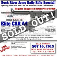 RRA AR1226_DRS LAR-15 Elite CAR A4 .223/5.56 DAILY RIFLE SPECIAL!