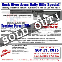 RRA AR1532_DRS LAR-15 Predator Pursuit Mid-Length .223/5.56 DAILY RIFLE SPECIAL!