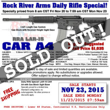 "RRA AR1850_DRS LAR-15 16"" CAR A4 5.56/.223 DAILY RIFLE SPECIAL!"