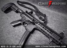 Sig Sauer MPX-P-9-KM-PSB 9mm Pistol, 8 Inch Barrel, KeyMod Handguard, Folding Sig Arm Brace with QD Sling