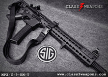Sig Sauer MPX-C-9-KM-T 9mm Carbine, 16 Inch Barrel, KeyMod Handguard, Sliding Sig Stock with QD Sling