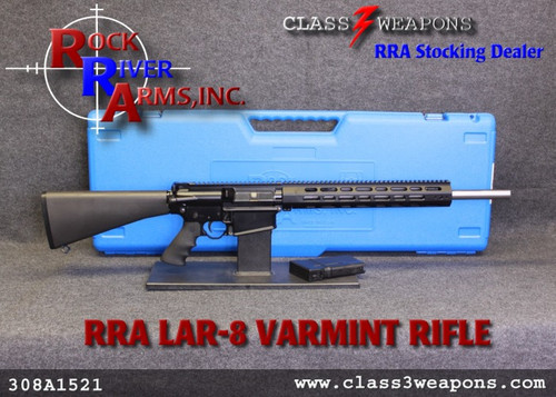 "Rock River Arms LAR-8 308A1521 Varmint A4 20"" Stainless Bull Barrel"
