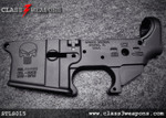 Spikes Tactical STLS015 Punisher Logo Stripped Lower Receiver