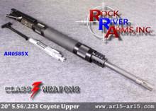 AR0585X Rock River Arms 20 inch HBAR A4 Coyote Upper Half 5.56/.223