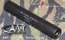 AWC Titanium Abraxas 9mm Pistol Suppressor (1/2x28 tpi)
