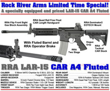 25561300 Rock River Arms BB2550 CAR A4 with Fluted Barrel