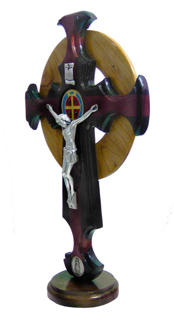 Divine Mercy St. Benedict Celtic Crucifix