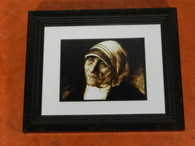 """Blessed Mother of Teresa, 8 x 10 print, frame not included.  """"Hope in the Darkness"""""""