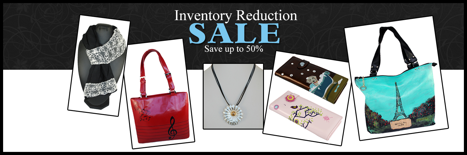 Sales and discounts on purses, wallets, jewelry and accessories at Accessory Insanity
