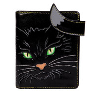 Whiskers, The Green Eyed Kitty - Small Zipper Wallet