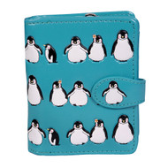 Penguin Pattern - Small Zipper Wallet