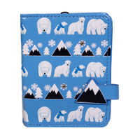 Polar Bear Pattern - Small Zipper Wallet