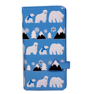 Polar Bear Pattern - Large Zipper Wallet