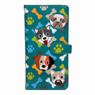 Playful Puppy Pattern - Large Zipper Wallet