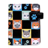 Cat Checkers - Small Zipper Wallet