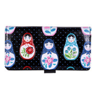 Russian Matryoshka Nesting Dolls - Large Zipper Wallet