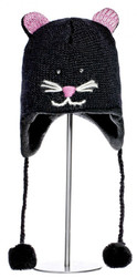 Knitted Kitty Cat Hat - Knitwit Hat - Kids Size