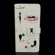 Crazy Cats - Large Zipper Wallet - Cream