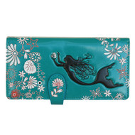 Mermaid - Large Zipper Wallet - Turquoise