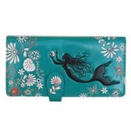 Mermaid - Large Zipper Wallet - Turquoise