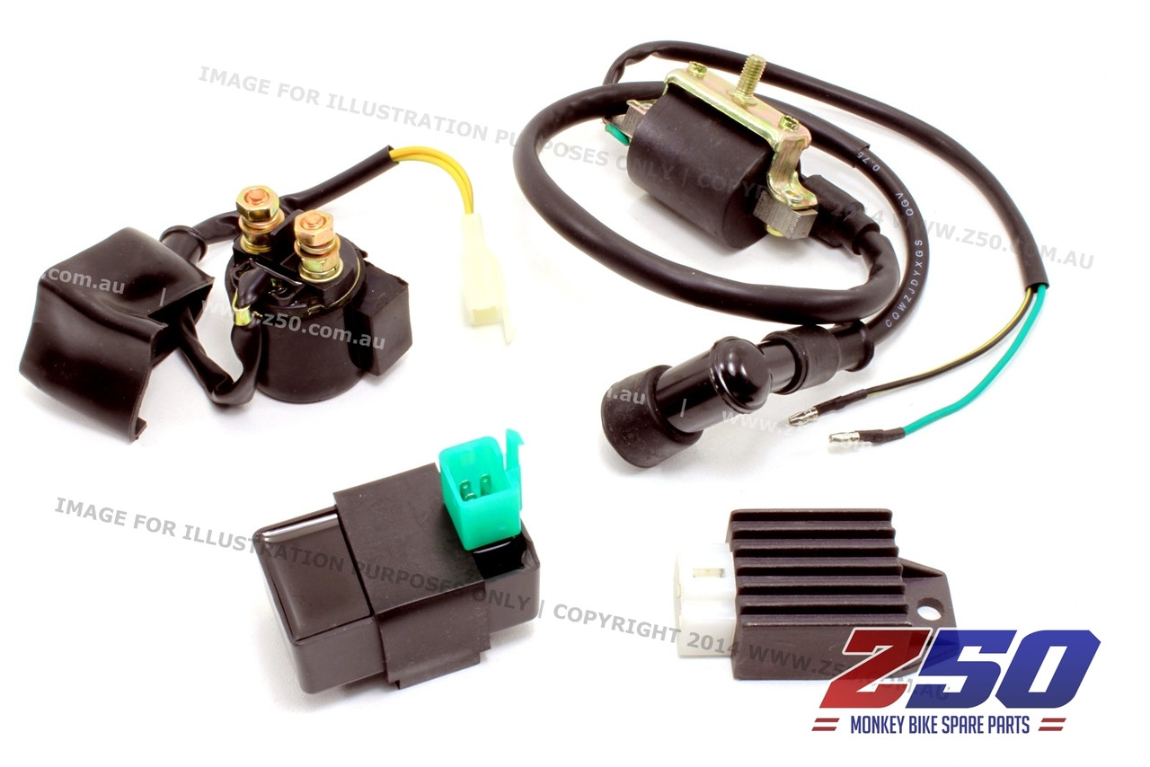 ZM0391__65504.1405056954.1280.1280?c=2 aftermarket honda monkey z50 ignition electrical kit, cdi, starter jincheng monkey bike wiring diagram at edmiracle.co