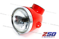 Headlight Assy (Z50A, Red, Single Indicator, Steel Case)