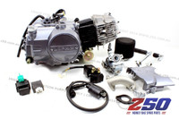 Lifan 110cc Engine (4-Speed Semi-Auto) (w/ Air Carby Kit) + Ignition Coil, CDI, Regulator & Relay