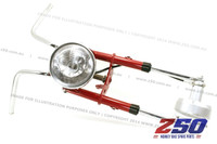 Front Fork Set - Drum Brake (Traditional Style, Red, inc Handlebar, Headlight Sets)
