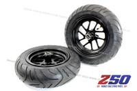 """Wheel Set (Front & Rear, Alloy Spoke Rim, 10"""" Motard Tyre)"""