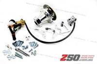 "Hydraulic Rear Disk Brake Complete Set (For 8"" wheels, CNC Alloy Wheel Hub)"