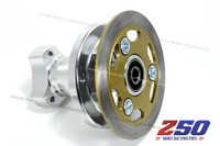 "Hydraulic Rear Disk Brake Complete Set (For 8"" wheels, CNC Alloy Wheel Hub, w/ Brake Pedal)"