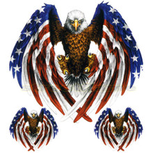 Victory Eagle with US Flag Feathers Decals