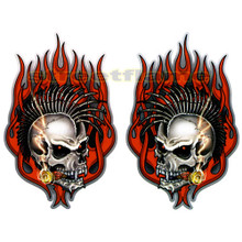 Vampire Smoking Skulls with Mohawks Decals