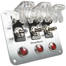 3 Toggle Switch Panel - Translucent Clear