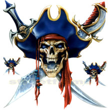 Pirate Skull Captain Decals