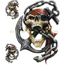 Pirate Skull with Anchor and Chain Decals