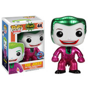 Funko Pop Classic 1966 Metallic Joker Toymatrix.com Exclusive [DAMAGED BOX / PAINT FLAWS]
