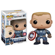 Funko Pop Marvel Toymatrix.com Exclusive Unmasked Captain America 2 --BOX DAMAGE--