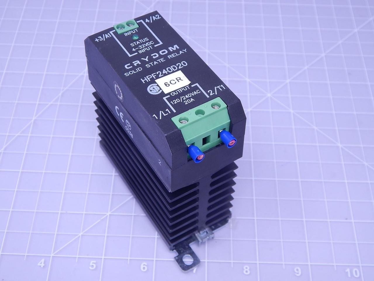 Crydom Hpf240d20 Solid State Relay In 4 32 Vdc Out 120 240 Vac 20 240v Ac See 3 More Pictures