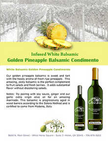 Golden Pineapple Balsamic Condimento