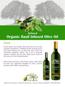 Organic Basil Infused Olive Oil
