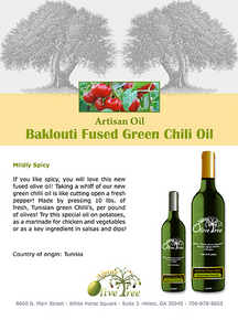 Baklouti Fused Green Chili Oil