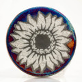 Sunflower Raku Coaster