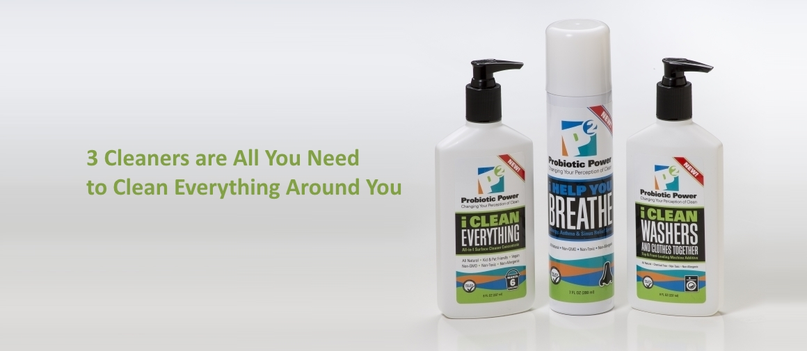 Safe and natural probiotic cleaners